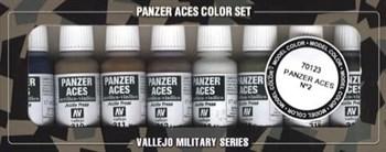 НаборМодельныхКрасокVallejo701238Шт.:PanzerAces№2