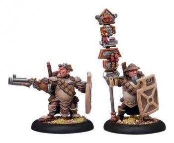 Mercenary High Shield Gun Corps Officer & Standard (2 models) BLI