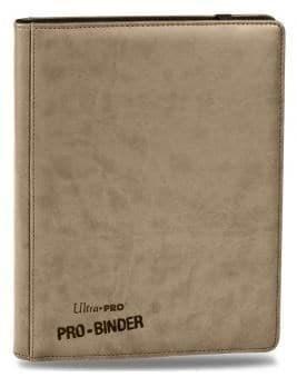 """Альбом """"Ultra-Pro"""" """"Pro-Binder"""" (премиум с листами по 3х3 кармашка, искусственная кожа): бежевый"""