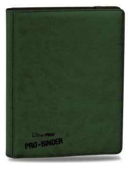 """Альбом """"Ultra-Pro"""" """"Pro-Binder"""" (премиум с листами по 3х3 кармашка, искусственная кожа): зеленый"""