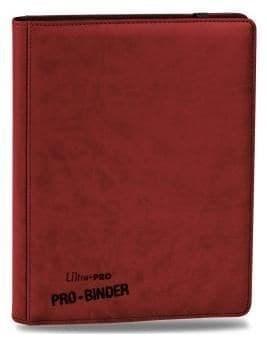 """Альбом """"Ultra-Pro"""" """"Pro-Binder"""" (премиум с листами по 3х3 кармашка, искусственная кожа): красный"""