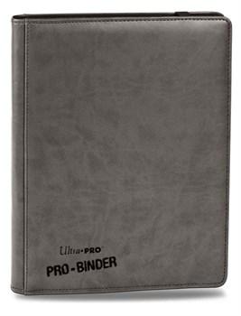 """Альбом """"Ultra-Pro"""" """"Pro-Binder"""" (премиум с листами по 3х3 кармашка, искусственная кожа): серый"""