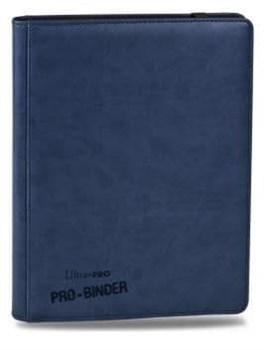 """Альбом """"Ultra-Pro"""" """"Pro-Binder"""" (премиум с листами по 3х3 кармашка, искусственная кожа): синий"""