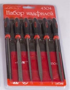 Набор надфилей с ручками, крупная насечка, 6 шт., блистер + чехол