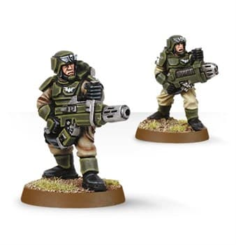 Cadian with Plasma Gun and Meltagun