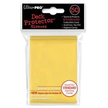 """Протекторы """"Ultra-Pro"""" (разноцветные, 50 шт., 66мм*91мм): желтые"""