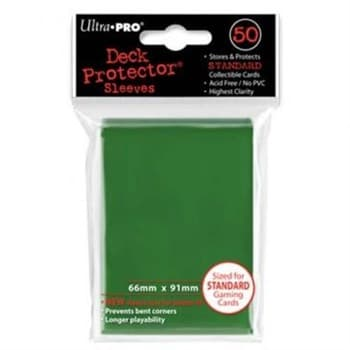 """Протекторы """"Ultra-Pro"""" (разноцветные, 50 шт., 66мм*91мм): зеленые"""