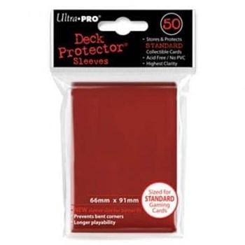 """Протекторы """"Ultra-Pro"""" (разноцветные, 50 шт., 66мм*91мм): красные"""