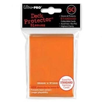 """Протекторы """"Ultra-Pro"""" (разноцветные, 50 шт., 66мм*91мм): Оранжевые"""