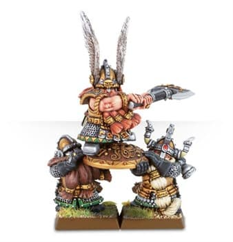 Dwarf Lord and Shieldbearers