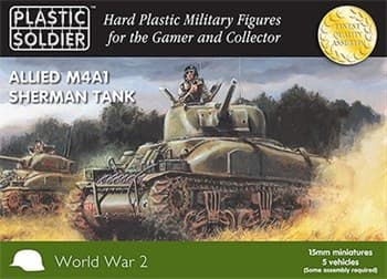 15mm Easy Assembly Sherman M4A1 75mmTank