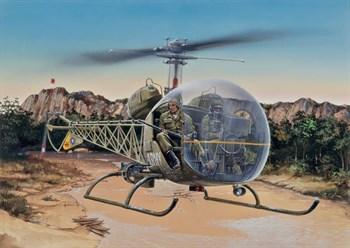 Вертолет  BELL OH-13S SIOUX (1:48)