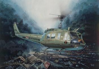 """Вертолет  UH-1D """"SLICK"""" (1:48)"""