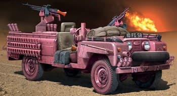 "Автомобиль  S.A.S. RECON VEHICLE ""PINK PANTHER"" (1:35)"