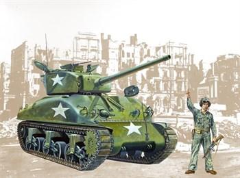 Танк  M4 A1 Sherman (1:35)