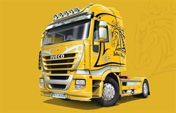 Автомобиль  IVECO Stralis Yellow Devil (1:24)