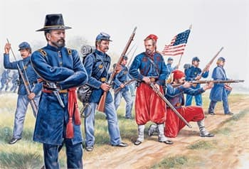 Солдаты  UNION INFANTRY AND ZUAVES (AMERICAN CIVIL WAR) (1:72)