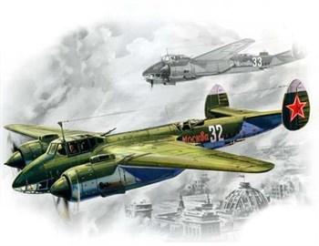 Советский фронтовой бомбардировщик  конструкции Туполева (1:72)