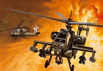 Вертолет  AH-64A APACHE (1:72)