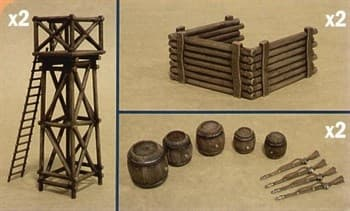 Диорама  ARTILLERY POSITION ACCESSORIES (1:32)