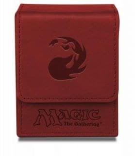 """Кожаная коробочка """"Ultro-Pro"""" (маг., на 100 карт в протекторах): рисунок """"Символ Маны R"""""""