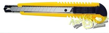 Нож выдвижной с боксом д/хранения запасных лезвий, автоматическая фиксация лезвия