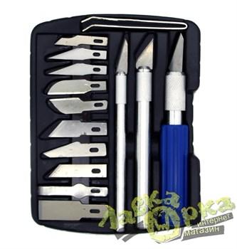 Набор ножей с цанговым зажимом (алюминий), 14 предметов