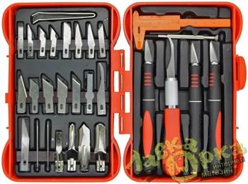 Набор ножей с цанговым зажимом (алюминий), 33 предмета