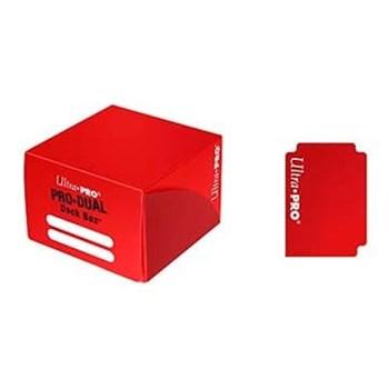 """Коробочка """"Ultra-Pro"""" PRO-DUAL (пластиковая, на 180 карт в протекторах): красная"""