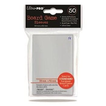 Протекторы для настольных игр Ultra-Pro (размер 59х92 мм, 50 шт.): Прозрачные