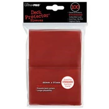 """Протекторы """"Ultra-Pro"""" (разноцветные, 100 шт., 66мм*91мм): красные"""