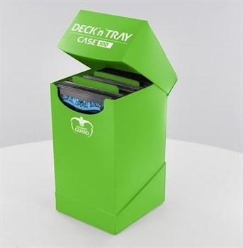 Ultimate Guard - Коробочка 100+ с отделением для кубиков зеленая UGD010271 010271