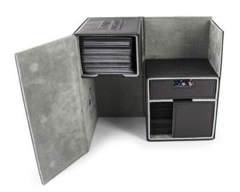 Ultimate Guard - Коробочка двойная кожаная черная премиум с отделением для кубиков UGD010227 010227