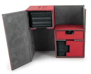 Ultimate Guard - Коробочка двойная кожаная красная премиум с отделением для кубиков UGD010229 010229