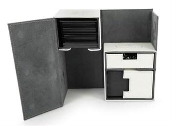 Ultimate Guard - Коробочка двойная кожаная белая премиум с отделением для кубиков UGD010228 010228