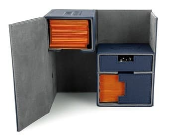 Ultimate Guard - Коробочка двойная кожаная синяя премиум с отделением для кубиков UGD010230 010230