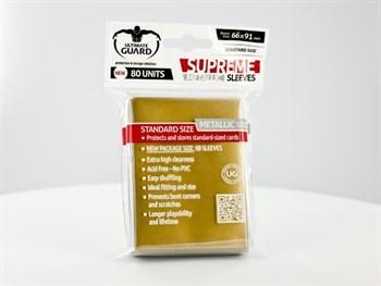 Ultimate Guard - Протекторы золотой металлик 80 штук UGD010125 010125