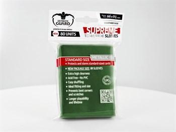 Ultimate Guard - Протекторы зеленый металлик 80 штук UGD010132 010132