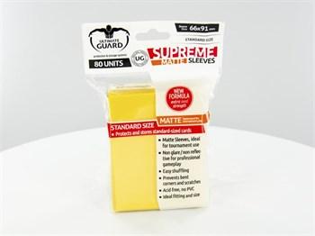 Ultimate Guard - Протекторы матовые желтые 80 штук UGD010182 010182