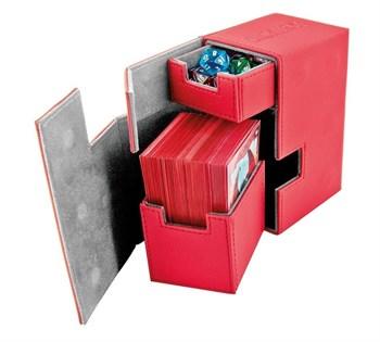 Ultimate Guard - Коробочка кожаная красная премиум с отделением для кубиков UGD010223 010223