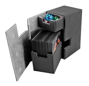 Ultimate Guard - Коробочка кожаная черная премиум с отделением для кубиков UGD010221 010221