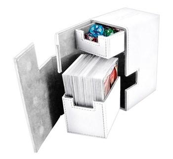 Ultimate Guard - Коробочка кожаная белая премиум с отделением для кубиков UGD010222 010222