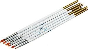 Набор кистей из синтетического волоса, ретушные  6 шт. (№ 1, 2, 3, 4, 5, 6) J3694 3694