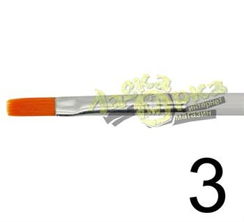 Кисть из синтетического волоса, плоская № 3 J3623 3623
