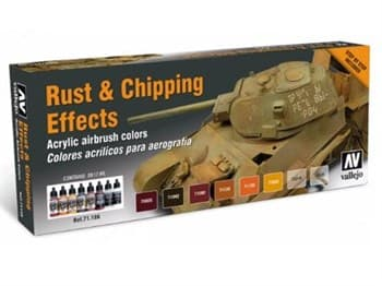 Набор Model Air Rust & Chipping effects (8цв.)