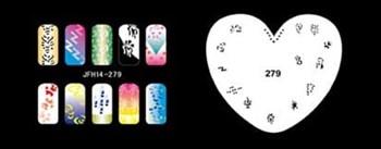 Трафарет для росписи ногтей аэрографом JFH14-279
