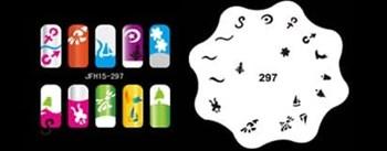 Трафарет для росписи ногтей аэрографом JFH15-297