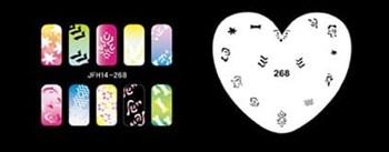 Трафарет для росписи ногтей аэрографом JFH14-268