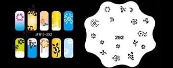 Трафарет для росписи ногтей аэрографом JFH15-292