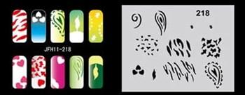 Трафарет для росписи ногтей аэрографом JFH11-218